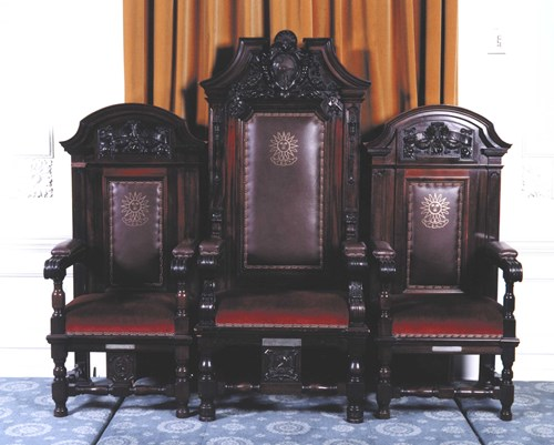 Office Bearers' chairs, by Whytock and Reid, 1908