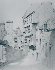 Surgeons' Rented Rooms in Dickson's Close, Edinburgh, where early meetings were held by The Incorporation of Surgeons and Barbers, 1647