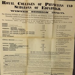 From a Collection of Posters of the Edinburgh Medical Education Marketplace, SOM 4/2/2