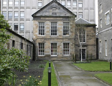 Headquarters of the School of Medicine at Surgeons' Hall (adjacent to Playfair building at RCSEd)