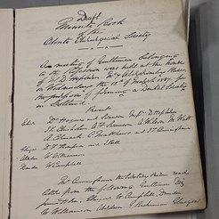 First Minute Book of the Society, 1867-73 (ROCS 1/1)