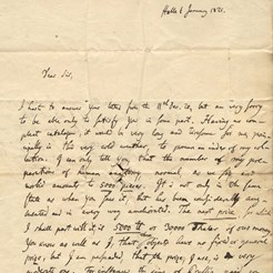 Johann Friedrich Meckel to John Thomson, Jan 1821 (RCSEd 9/1/1/1/1)