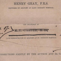 Title page of Gray's Anatomy proof (1858) RCSED 2