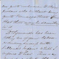 Letter to JSY relating to Edinburgh Maternity Hospital abandoning the use of Chloroform, May 1853 2