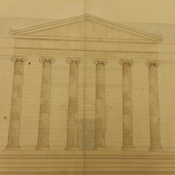 Drawing of western front on Nicolson Street, RCSEd 8/2/2/2