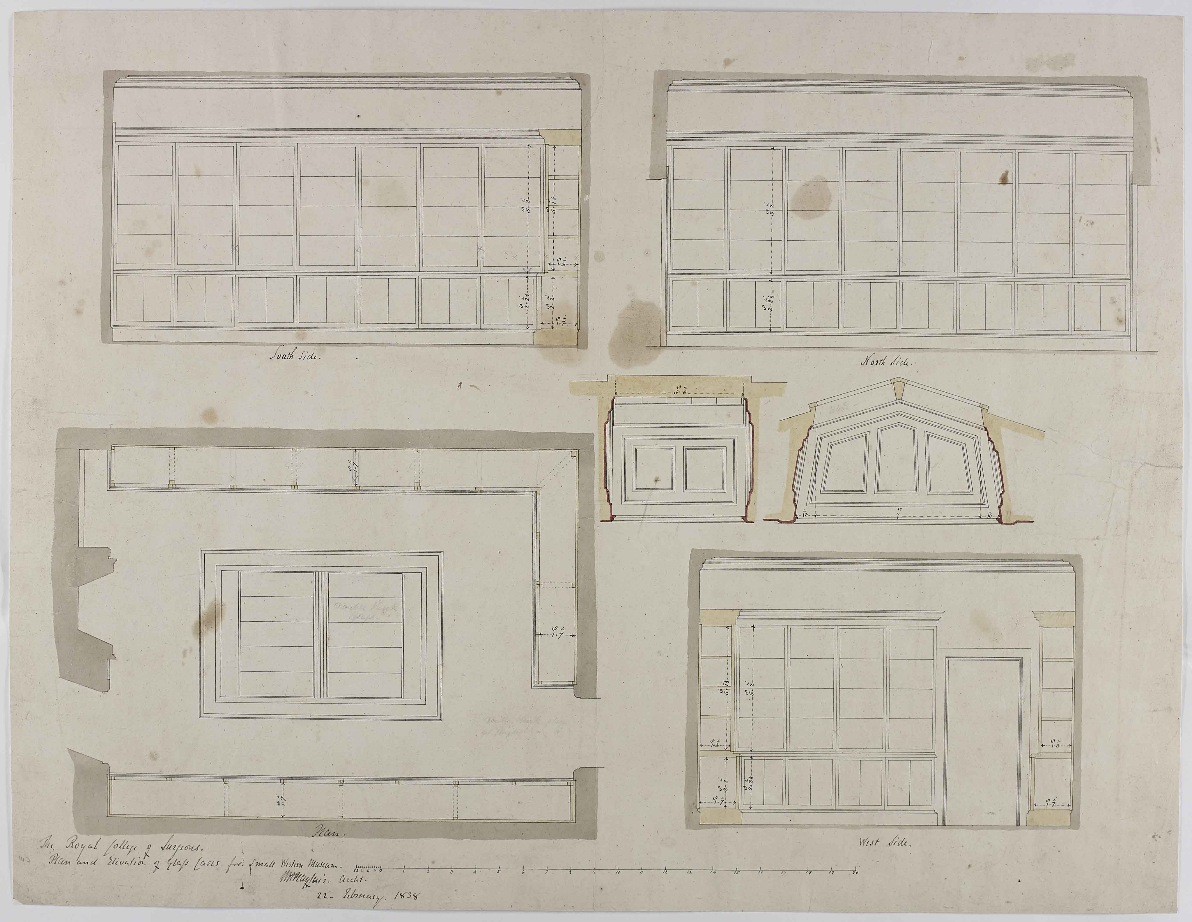 William Henry Playfair\'s Architectural Plans of RCSEd, Nicolson ...