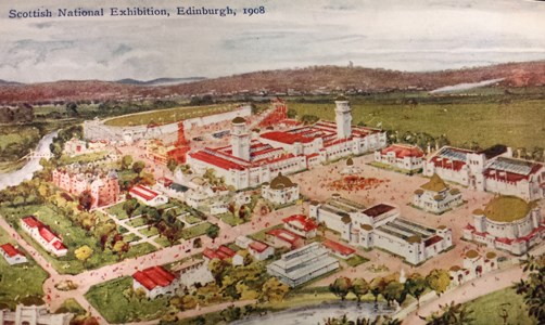 Scottish National Exhibition of 1908 Postcard