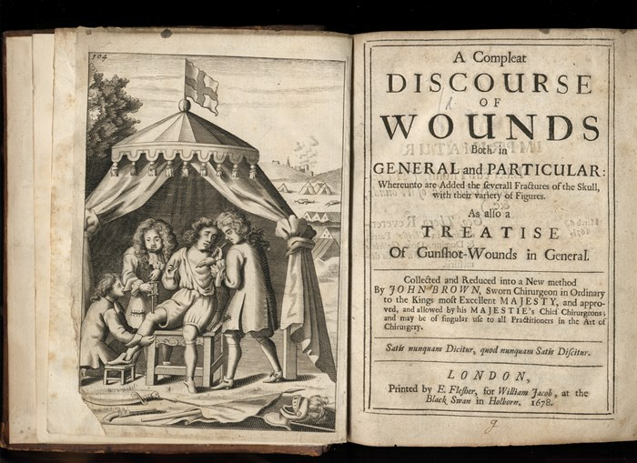 John Browne's 1687 Compleat discourse of wounds