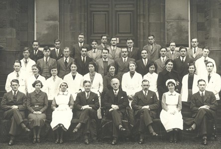 Royal Infirmary of Edinburgh 1937. School of Medicine students undertook clinical training here